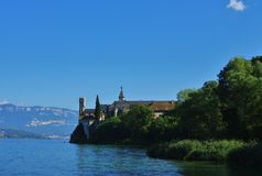 Hautecombe abbey. Beside the aix les bains lake in france Stock Image
