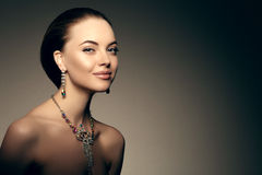 Hautecouture-Modell-Girl Beauty Woman-Hautecouture Vogue-Art PO lizenzfreies stockfoto