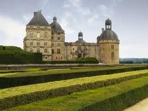 hautefort för chateaude france arkivbilder
