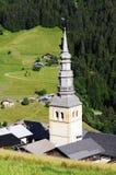 Hautekuce village in alps Royalty Free Stock Images