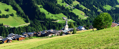 Hautekuce village in alps Stock Photos