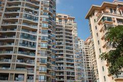Hautes constructions résidentielles Photo libre de droits
