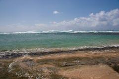 Hautes eaux à la plage de Ke'e Images libres de droits