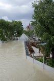Hautes eaux sur Danube à Bratislava, Slovaquie Photographie stock