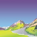 hautes montagnes alpestres Images libres de droits