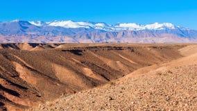 Hautes montagnes d'atlas Photos stock