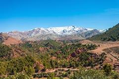 Hautes montagnes d'atlas Images stock