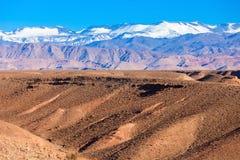 Hautes montagnes d'atlas Image stock