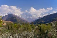 Hautes montagnes d'atlas, Maroc Photo libre de droits