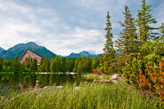 Hautes montagnes d'hôtel, Slovaquie image libre de droits