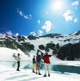 hautes montagnes de lac Photographie stock