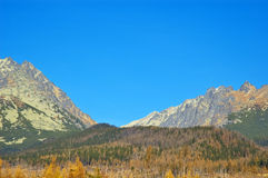 Hautes montagnes de Tatras Photos stock