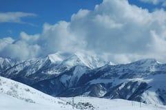 Hautes montagnes en hiver Images libres de droits
