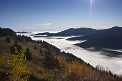 Hautes-Vosges, moutains, France. View of moutain landscape in Vosges mountains , Hautes-Vosges, France Stock Images