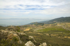 Hauteurs du Golan de vue Photos libres de droits