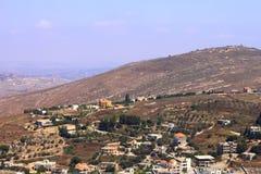 Hauteurs du Golan, Galilée, Israël - vue vers le Liban Images libres de droits