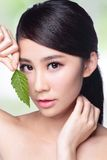 Hautpflege und organische Kosmetik Lizenzfreies Stockfoto