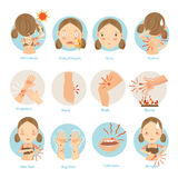 Hautprobleme lizenzfreie abbildung
