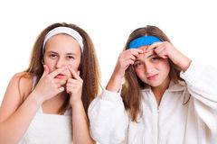 Hautproblemkonzept des Jugendlichen Stockfoto