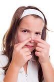 Hautproblemkonzept des Jugendlichen Stockbild