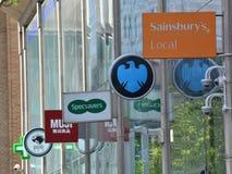Hautpstraße speichert Zeichen Lizenzfreies Stockfoto
