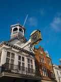 Hautpstraße-Uhr Guildford lizenzfreies stockfoto
