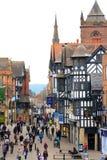Hautpstraßeszene Chesters Stockfoto