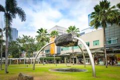 Hautpstraße bei Fort Bonifacio in Manila Lizenzfreie Stockfotografie