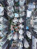Hauts bâtiments de ci-dessus en Hong Kong Image stock