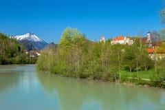 Hauts palais et monastère de Mang de saint dans Fuessen image stock