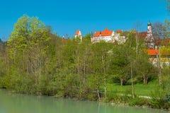 Hauts palais et monastère de Mang de saint dans Fuessen photographie stock