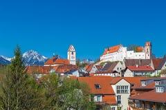 Hauts palais et monastère de Mang de saint dans Fuessen photographie stock libre de droits