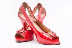 Hauts talons rouges sensuels Photo libre de droits