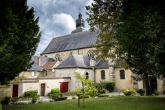 Hautvillers, France - 9 août 2017 : Intérieur de l'abbaye de Saint Pierre de Hautvillers avec la tombe de Dom Perignon dans le Ch photos libres de droits