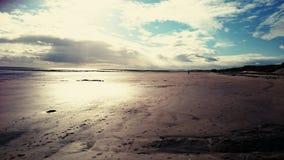 Hauxley strand Arkivbild