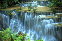 Hauy mae kamin water falls in deep forest national park kanchana Royalty Free Stock Image