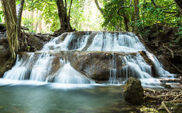 Hauy Mae Khamin waterfall in Deep forest Stock Photography