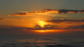 hav över solnedgång Royaltyfri Fotografi