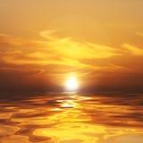 hav över solnedgång Arkivbild