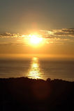 hav över soluppgång Arkivbild