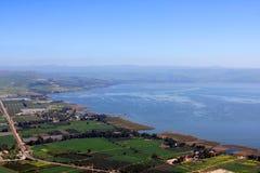 Hav av Galilee, Israel Arkivfoto