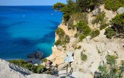Hav av Sardinia, sommarsemester i Italien Royaltyfria Foton