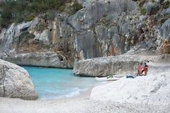 Hav av Sardinia, sommarsemester i Italien arkivfoto