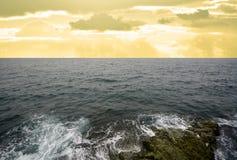 hav 3d framför platsskyen Fotografering för Bildbyråer