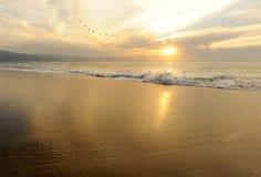 hav 3d framför solnedgång Royaltyfria Foton