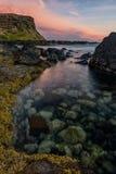 hav 3d framför solnedgång Royaltyfri Fotografi