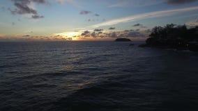 hav 3d framför solnedgång lager videofilmer