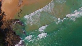 hav 3d framför solnedgång arkivfilmer