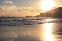 hav 3d framför solnedgång australasian Royaltyfri Foto