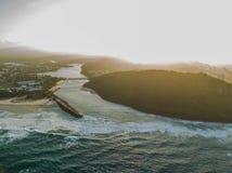 hav 3d framför solnedgång royaltyfri foto